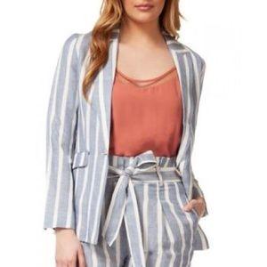 NWT Dex Striped Linen-blend Blazer